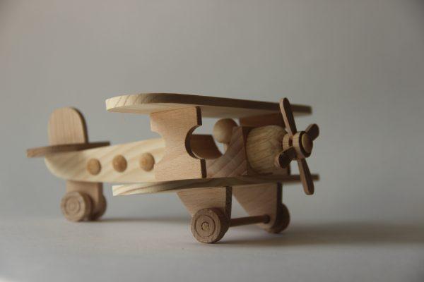 """Wooden airplane toy """"BIPLANE"""""""