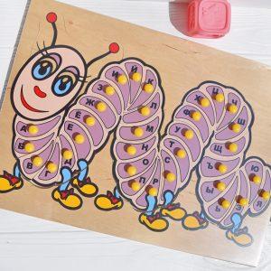 """Developmental manual """"Caterpillar"""" (Russian alphabet)"""