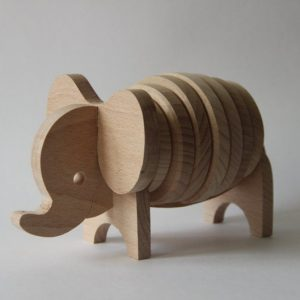 "Wooden toy puzzle ""Elephant"""